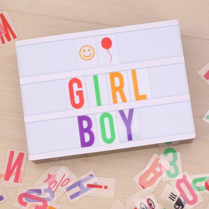 極有家旗艦店網紅LightBox字母發光燈箱DIY組合拼圖卡片LED數字燈箱床頭燈#DIY禮物#裝飾工具#定制品#相冊魔方