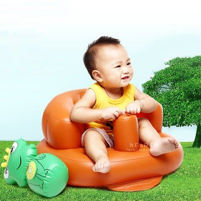 【可愛村】充氣式寶寶沙發餐椅 充氣椅 兒童椅 幼兒椅 學習椅 洗澡椅