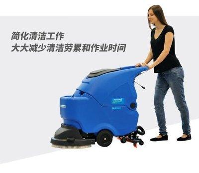 全館免運 掃地機器人容恩工廠洗地機手推式全自動工業  --夜行依