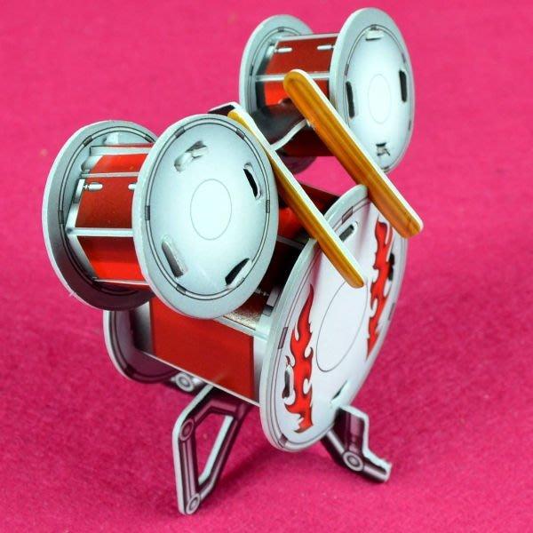 佳廷家庭 親子DIY紙模型3D立體拼圖贈品獎勵品專賣店 天籟之音樂器 袋裝樂器3爵士鼓 Calebou卡樂保