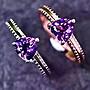 ((瑪奇亞朵的珠寶世界)) 簡單款天然心型紫水...