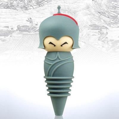 SiPALS的官帽酒瓶塞 (宋朝將軍),靈感源於歷朝人物官帽,使用食品級耐溫矽膠