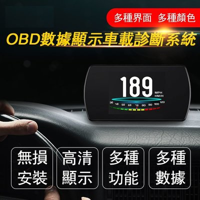 中和: 汽車用 P12 OBD2 液晶 抬頭顯示器 OBDII HUD 測水溫 車速 電壓 油耗 時速等 顯示器