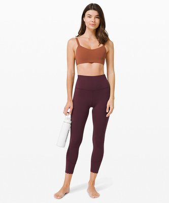 """Lululemon 露露檸檬瑜珈褲  Align High-Rise Pant 25""""  Scallop 4號酒紅"""
