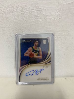 2019-20 IMMACULATE COLLECTION GOGA BITADZE RC AUTO