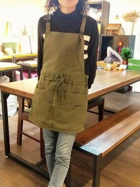 (正妹的店]新概念厚磅帆布工作圍裙 畫室 髪型設計師 陶土 花藝
