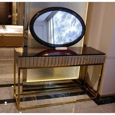[紅蘋果傢俱] CT-042後現代臥室系列 梳妝桌 歐式  高檔 簡約 不銹鋼輕奢