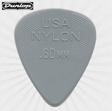 ♪ Your Music 愉耳樂器 ♪Jim Dunlop Nylon Standar 吉他 匹克 PICK .60mm