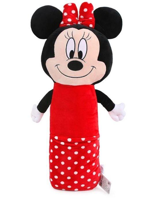 【小糖雜貨舖】韓國 加長 絨毛 安全帶 抱枕 - 米妮 安撫娃娃 推車汽座玩具