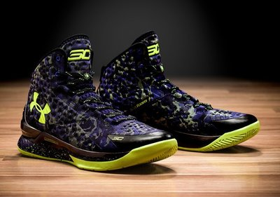Under Armour Curry 1 All Star勇士隊1258723-005咖哩藍黃綠明星賽高筒暗物質