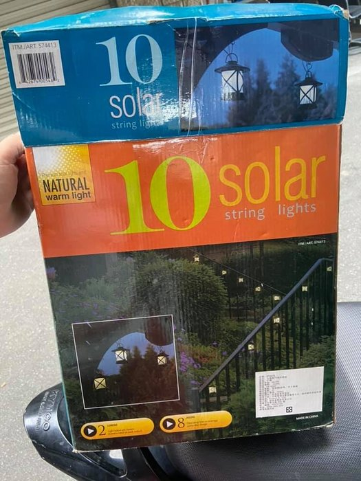 *象之家*太陽能門廊吊燈組