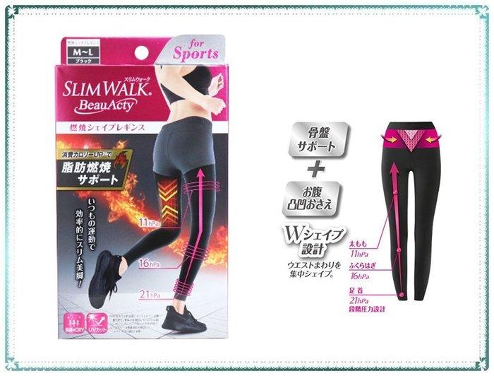現貨附發票_日本製 Slim Walk 運動增強燃脂褲【Q寶寶】