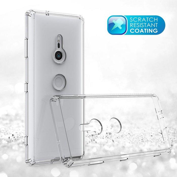 索尼 xperia xz3 手機殼 四角氣囊防摔 亞克力背板 高清透明 攝像頭保護 防摔抗震 保護套