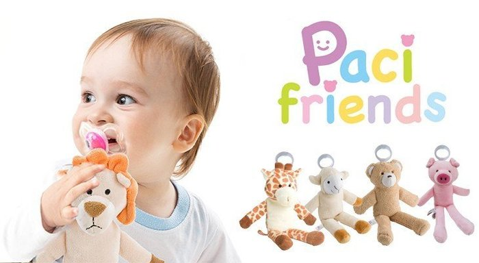 Paci Friends 安撫奶嘴公仔