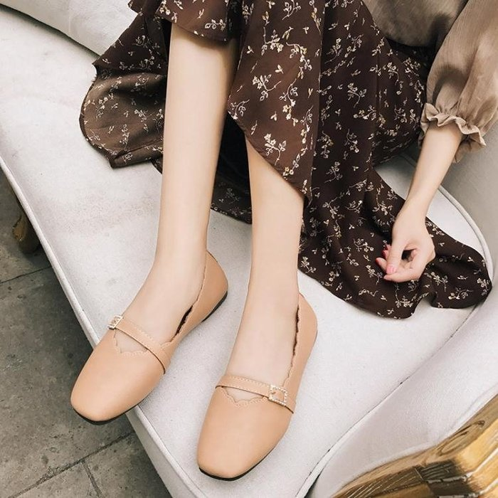 春季鞋子女森女系圓頭單鞋懶人鞋女LJ6350