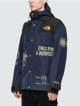THE NORTH FACE X BRAIN DEAD PRINTED MOUNTAIN JACKET