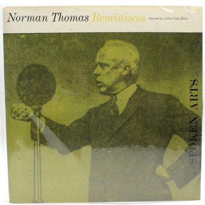 NORMAN THOMAS Reminisces Spoken Arts美版600700000033 再生工場1 03