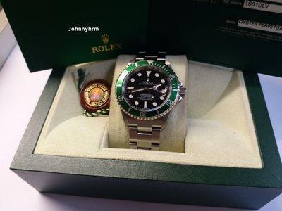 Rolex 16610lv Submariner 綠圈M頭卡