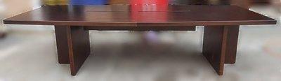 樂居二手家具(北) 便宜2手傢俱拍賣CE102301胡桃色大型會議桌* 酒櫃 高低櫃 櫥櫃 客廳中古家具 矮櫃