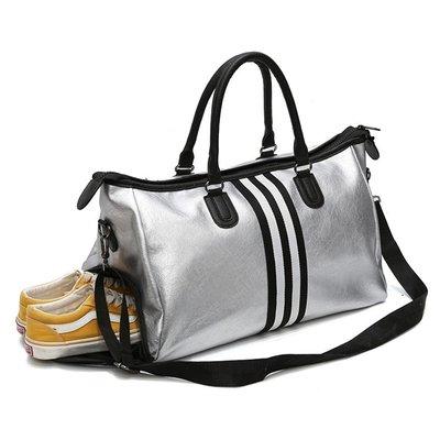 【露西小舖】大容量乾濕分離旅行包運動包健身包訓練包手提包單肩包斜肩包斜跨包斜背包休閒包行李包女男通用(大號)