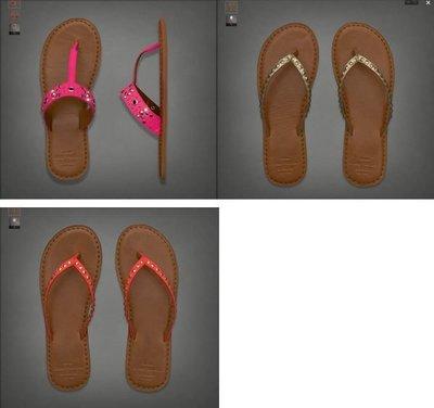 【A&F】LIGHT LEATHER FLIP FLOP 真皮涼鞋 真皮拖鞋  ,S號,M號 [假貨猖獗!! 請看 關於我 ]