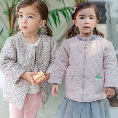 ✽2019早秋新品✽韓國Bebezoo女童滿印星星兔耳朵造型鋪棉外套