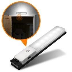 【開心驛站】USB充電式 智能LED薄型人體感應照明燈 USB-LI-04