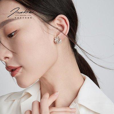SWEET COVE~復古港風花朵耳夾無耳洞女氣質韓國百搭個性網紅仿痛小巧耳骨夾