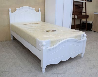 【歐風別館】尼羅河3.5尺單人白色床架【基隆至台中免運費】【全館滿萬享24期0利率】