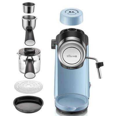 咖啡機家用小型意式全半自動迷你煮咖啡壺蒸汽式打奶泡機一體220V LX