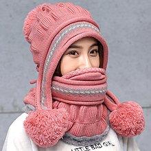 毛線帽子女生冬天天加厚保暖護耳遮臉騎車帽防風防寒百搭圍脖針織潮帽