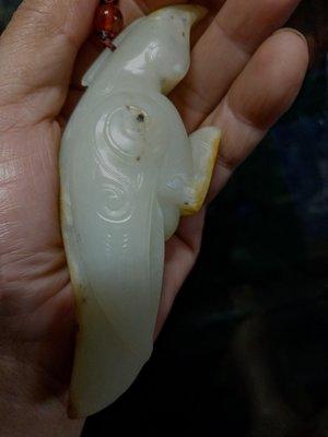 和闐玉雕◎  白玉鳥