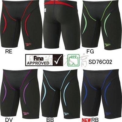 軟妹泳衣日本正品代購JP版Speedo速比濤男士專業比賽泳褲五分短褲SD76C021