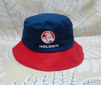 澳洲雄獅 HOLDEN 女款 登山露營漁夫帽盆帽休閒爬山 厚實 純棉 深藍色, 頭圍54-56公分
