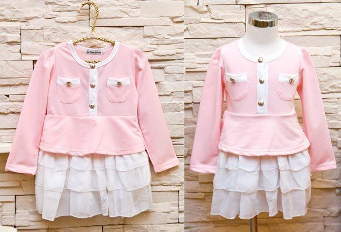 韓版《雪紡紗裙款》甜美長袖洋裝 (J4-2)
