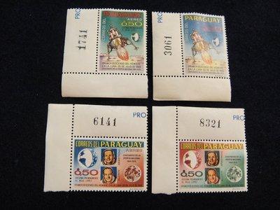 【大三元】美洲郵票-巴拉圭-太空郵票~新票3全1套-原膠
