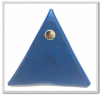 Φ小姿族Φ 三角零錢包 手作皮革零錢包 經典深藍色(手工訂製)款 全館滿1000免運費