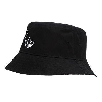 【名創優品】 Adidas愛迪達三葉草漁夫帽2021春季新款情侶款男女BUCKET帽子GN2145
