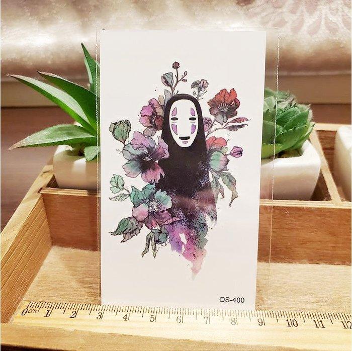 【萌古屋】彩色花叢 - 男女防水紋身貼紙刺青貼紙QS-400 K12