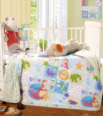 【現貨供應 快速出貨】創意卡通兒童純棉夏季涼被/薄被 空調被 兒童涼被 幼兒園 午睡(110*150cm)