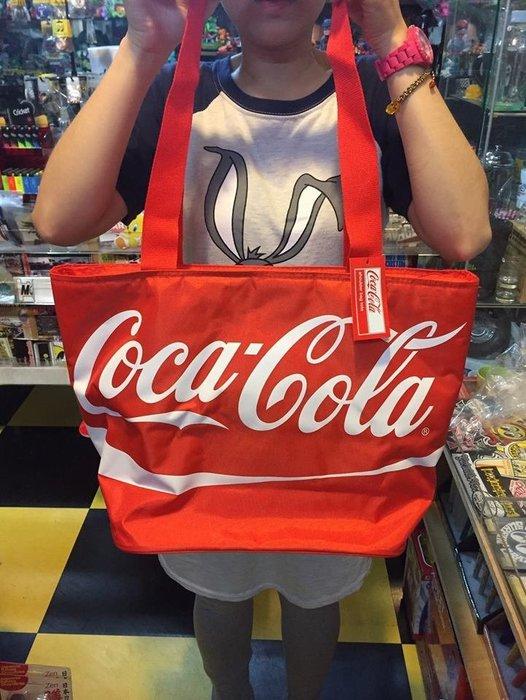 (I LOVE樂多)日本進口 正版 Coca-cola 可口可樂 保冰保溫袋 手提袋 野餐袋