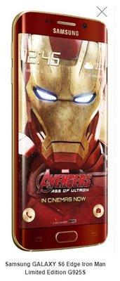 順達手機旗艦店Samsung GALAXY S6 Edge Iron Man Limited Edition G925S