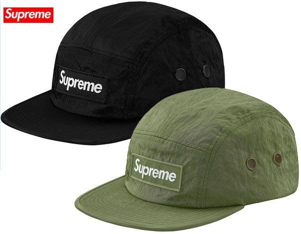 【超搶手】全新正品 2017最新 Supreme Washed Nylon Camp Cap 立體BOX貼布 五分割帽