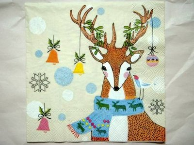 《散步生活雜貨-耶誕散步》德製 耶誕限定 IHR 餐巾紙 20枚入 - DOTTY DEER AND FUNNY FOX