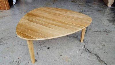 彰化二手貨中心(原線東路二手貨) --- 全新庫存品 簡約竹製三角型設計和室茶几 沙發桌