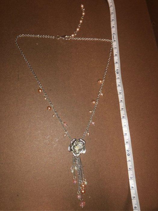 大出清!!美國帶回流行珍珠水晶項鍊