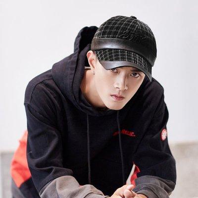帽子專賣店【STAR秋冬率性造型☆R260-1☆優質絨面格紋棒球帽】