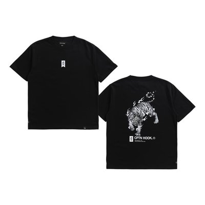 NEW ARRIVAL 19 TIGER IN FLAME TEE IV 黑 白 綠