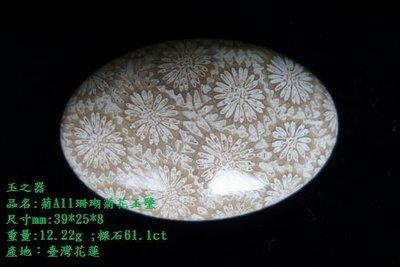 玉之器.花東玉石  菊A11珊瑚菊花玉墜,無底標喔! 另有台灣藍寶及總統石項目喔,歡迎參觀選購!