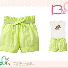 【B& G童裝】正品美國進口GAP Cuffed paperbag shorts 螢光綠短褲18-24mos